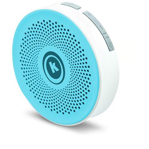 KENTRON Speaker Bluetooth Stereo Azzurro. Impermeabile In Ambienti Ad Alta Umidita. Collocabile Su Qualunque Superficie Piatta