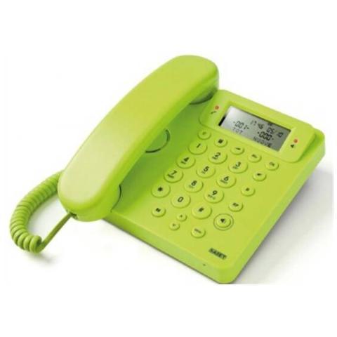 SAIET Telefono Multifunzione con Vivavoce e Identificatore del Chiamante colore Verde