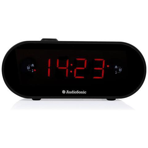 AUDIOSONIC Radiosveglia Digitale CL-1496 con Doppio Allarme Sintonizzatore FM Colore Nero