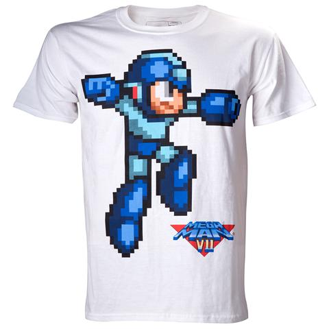 Bioworld Megaman - White Character (T-Shirt Unisex Tg. S)