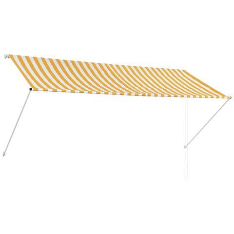 Tenda Da Sole Retrattile 300x150 Cm Giallo E Bianco