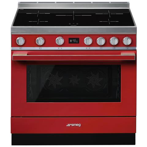 Cucina Elettrica CPF9IPR 5 Zone di Cottura Forno Elettrico Dimensione 90 x 60 cm Colore Ro...