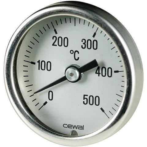 Pirometro Termometro 0-500° Bimetallico Per Forno Stufa Camino Barbecue 916 341 03