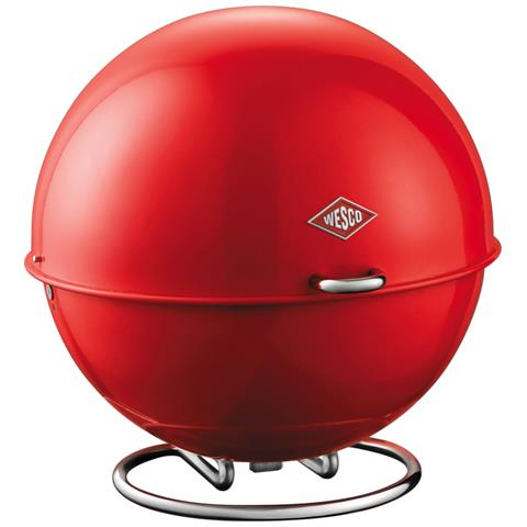 WESCO Contenitore Superball per Pane Frutta Verdura Biscotti Rosso 26 cm