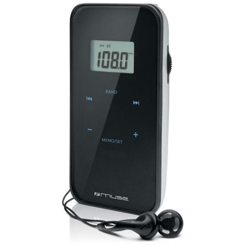 Muse M-02 R, 3,5 mm, Personale, LCD, Analog & digital, FM, MW, 155 x 60 x 3,6 mm