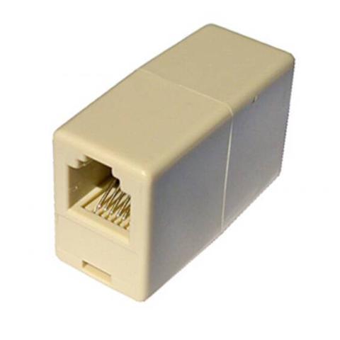 DIGITUS Accoppiatore Telefonico 2 Connettori Rj11 - 6P4C Femmina / Femmina Colore Bianco
