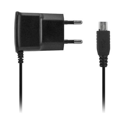 FONEX Carica da Rete Slim 1A per Mini USB Colore Nero