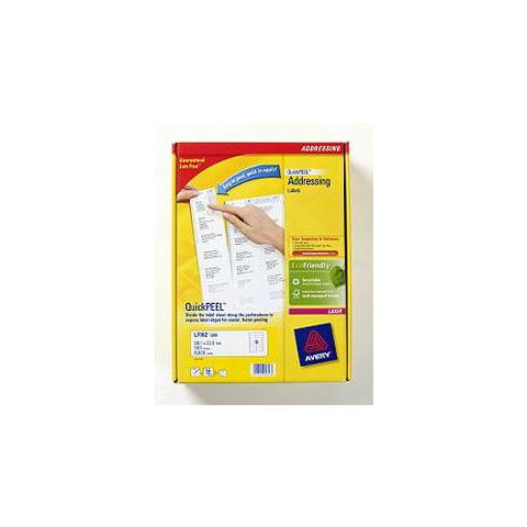 QuickPEEL, Bianco, Laser / Inkjet, Carta, 99.1 x 33.9 mm, 297 x 210
