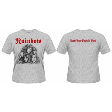 PHM Rainbow - Long Live Rock & Roll Grey Front & Back Print (T-Shirt Unisex Tg. S)