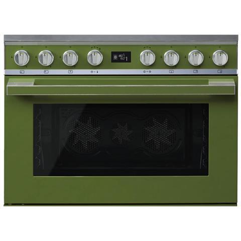 Cucina Elettrica CPF9GPOG 6 Fuochi a Gas Forno Elettrico Dimensione 90 x 60 cm Colore Oliv...