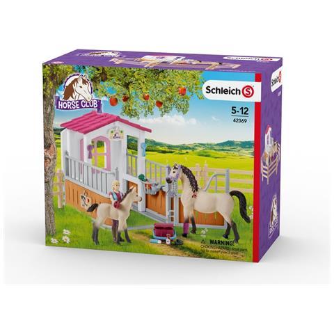 Schleich Box Cavalli Arabi e Addetta Cura Animali