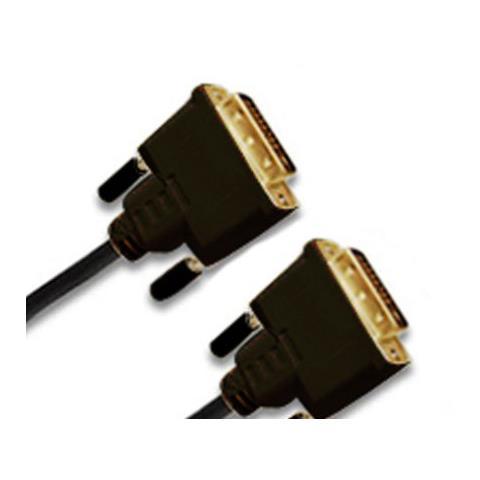Jou Jye Computer DVI-D, plug 24+1p / plug 24+1p - 5.0M 5m DVI-D DVI-D Nero cavo DVI