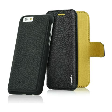 FONEX Magnetic Detachable Custodia 2 in 1 per iPhone 6 Plus / 6S Plus Colore Nero