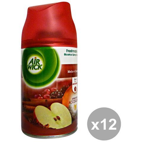 Air Wick Set 12 Freshmatic Max Ricarica Mela-cannella Deodoranti Candele E Profumato