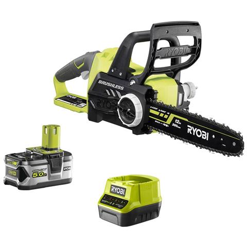 Image of 18v Brushless Cut-off Machine Oneplus Motore - 1 Batteria 5.0 Ah - 1 Caricabatterie Rcs18x3050f