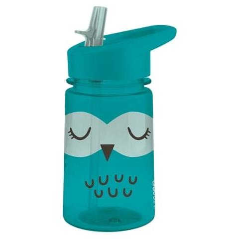 Borraccia Flip & Sip Zoo Owl, Per Bambini, Blu Turchese, L 0,35