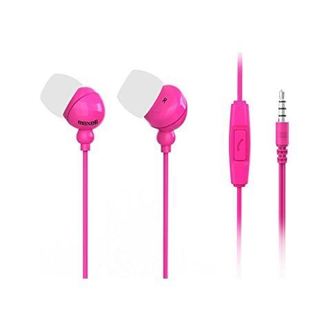 MAXELL Auricolari con Microfono Colore Rosa