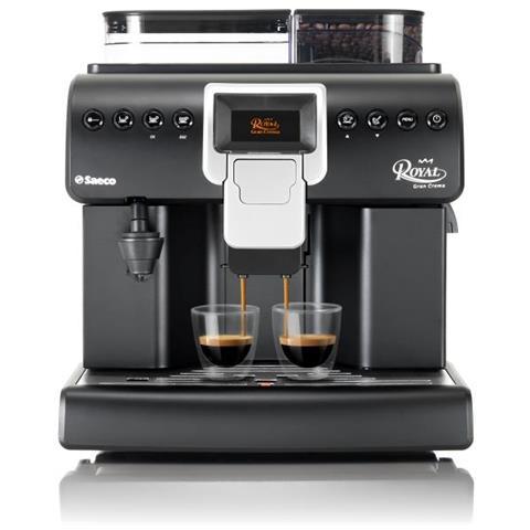 Macchina da Caffè Espresso Royal Gran Crema Serbatoio 2.2 Lt. Potenza 1850 Watt Colore Nero / Argento