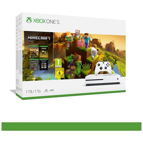 Image of Console Xbox One S 1TB Minecraft Creators Pack + 1M GamePass Bundle