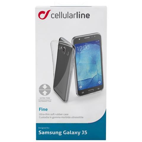 CELLULAR LINE Custodia Gomma Fine Galaxy J5 Trasp