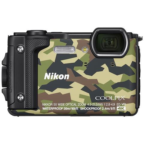 Image of Coolpix W300 Sensore CMOS 16 Mpx Zoom Ottico 5x Video 4K Wi-Fi Bluetooth - Militare