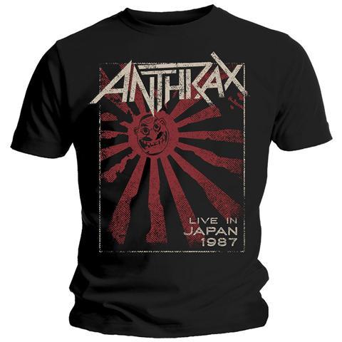 ROCK OFF Anthrax - Live In Japan Black (T-Shirt Unisex Tg. L)
