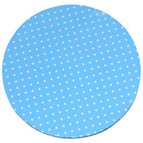 Piatto Sottotorta Tondo Azzurro A Pois Ø 30 Cm