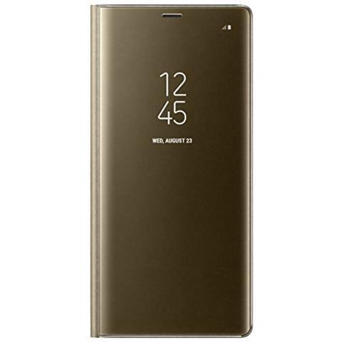 SAMSUNG Flip Cover Custodia Clear View per Galaxy Note 8 Colore Oro