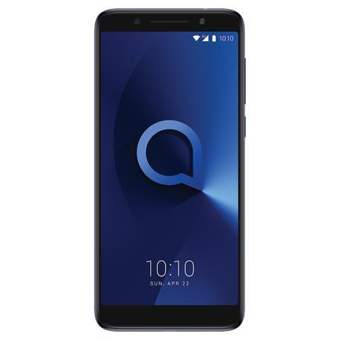 "ALCATEL 3X Blu metallizato 32 GB 4G / LTE Dual Sim Display 5.7"" HD+ Slot Micro SD Fotocamera 13 Mpx Android Italia"