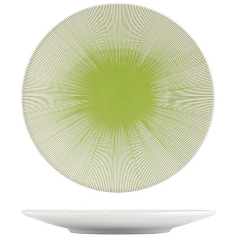 H&H Piatto Ceramica Kami Lime Frutta 20 Stoviglie