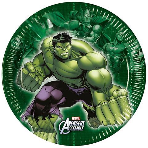 marvel comics Avengers Assemble 8 Piatti A Tema Hulk