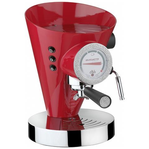 """Macchina Espresso / caffè """"""""diva"""""""" Rosso C / quadrante E Iugnatura Swarovski"""