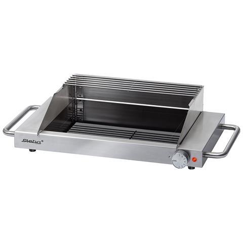Barbecue Elettrico Potenza 1200 Watt Colore Inox