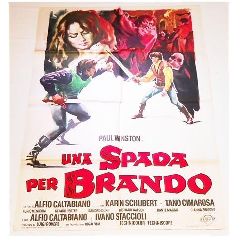 Vendilosubito Manifesto 4f Originale Del Film Una Spada Per Brando 1970 Raro