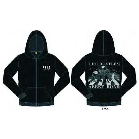 ROCK OFF Beatles (The) - Zipped Abbey Road With Back Printing (Felpa Con Cappuccio Unisex Tg. M)