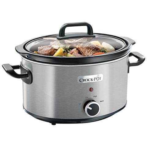CROCK-POT Cooker in Metallo Cromato Inox Capacità di 3,5 Litri