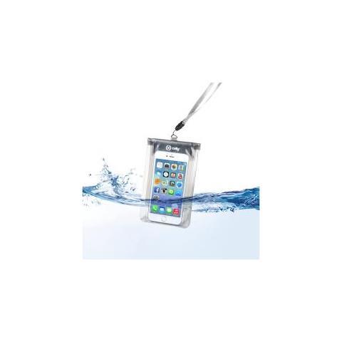 CELLY SplashBag Custodia waterproof per Smartphone da 5.7 colore Bianco