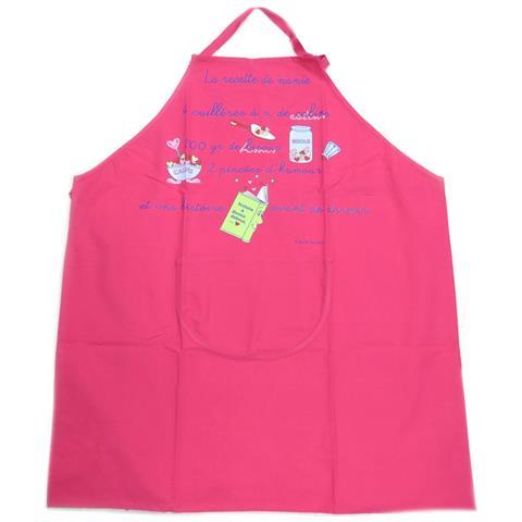 creatore grembiule 'cibo francese' ricetta per la nonna - rosa - [ p2056]