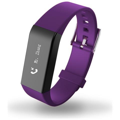 kydostore Smart Braccialetto Fitness Activity Touch Screen Viola A6 Cardiofrequenzimetro