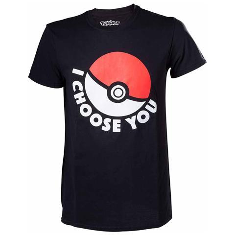 BIOWORLD Pokemon - I Choose You Black (T-Shirt Unisex Tg. XS)
