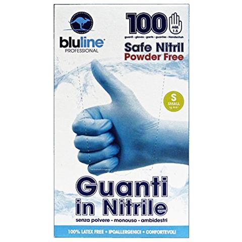 Bluline Guanti X 100 Nitrile Bluline S Giardinaggio