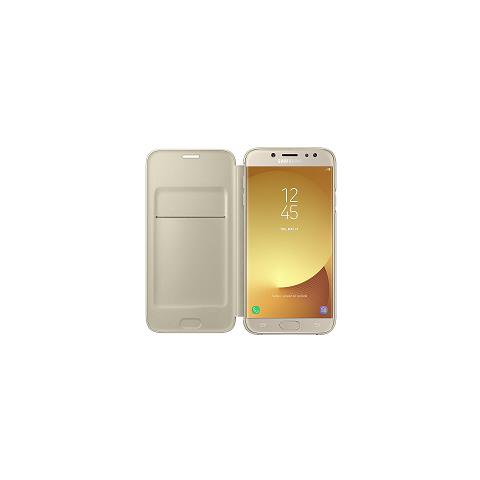 SAMSUNG Flip Cover Custodia per Galaxy J7 Colore Oro