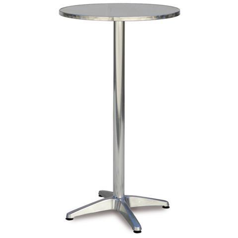Tavolo da Giardino Alto in Acciaio 60x110 cm