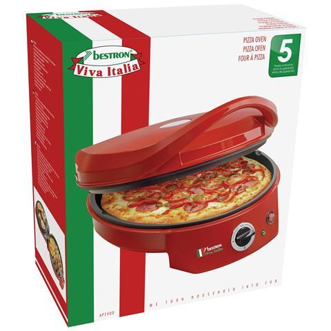 Apz400 Piccolo Forno Pizza / Griglia Da Tavola 1800 W Rosso