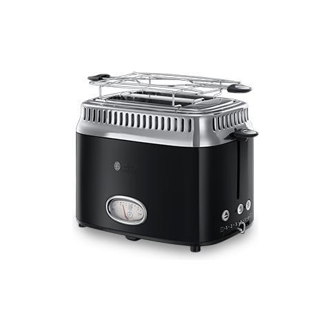 Tostapane Retro Classic Noir 21681-56 Acciaio inox Cottura Veloce Griglia per scaldare 1300 Watt