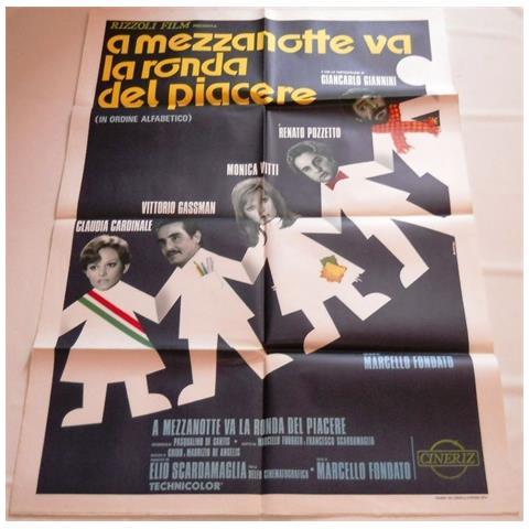 Vendilosubito Manifesto Originale Del Film A Mezzanotte Va La Ronda Del Piacere 1975