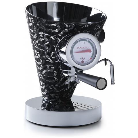 Macchina da Caffè Espresso Automatica Diva Serbatoio 0.8 Lt. Potenza 950 Watt Colore Nero...
