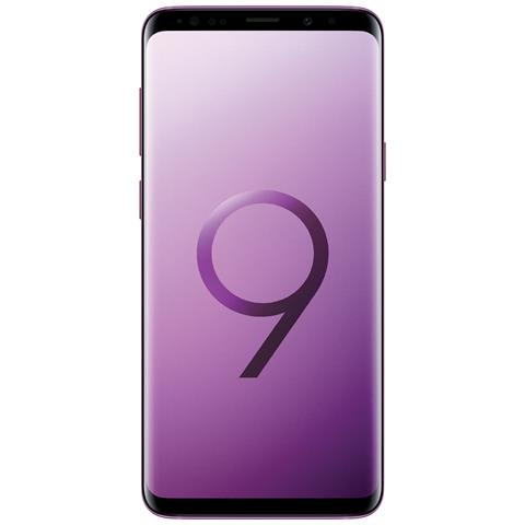 "SAMSUNG Galaxy S9+ Viola 64 GB 4G Dual Sim Impermeabile Display 6.2"" Quad HD Slot MicroSD Fotocamera 12Mpx Italia"