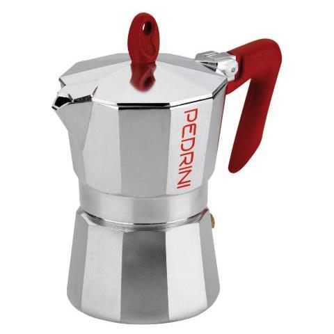 Caffettiera con Manico Rosso 1 Tazza – Modello Briliant