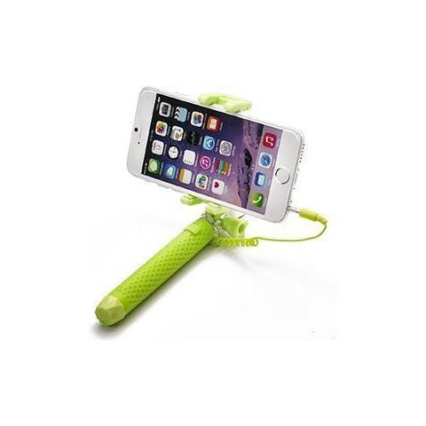 """CELLY Mini Selfie Stick compatibile con smartphone fino a 5.5"""" per una lunghezza massima di 70cm - Verde"""